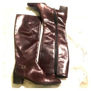 Ferragamo Vintage Cordavan Low Heeled Boots 8.5